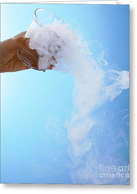 Co2 Greeting Cards - Dry Ice Greeting Card by Gusto