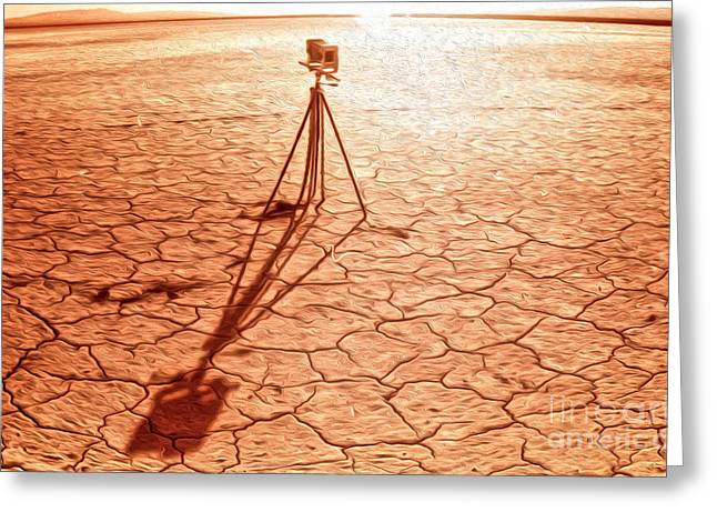 Dry Lake Photography Greeting Card by Gregory Dyer
