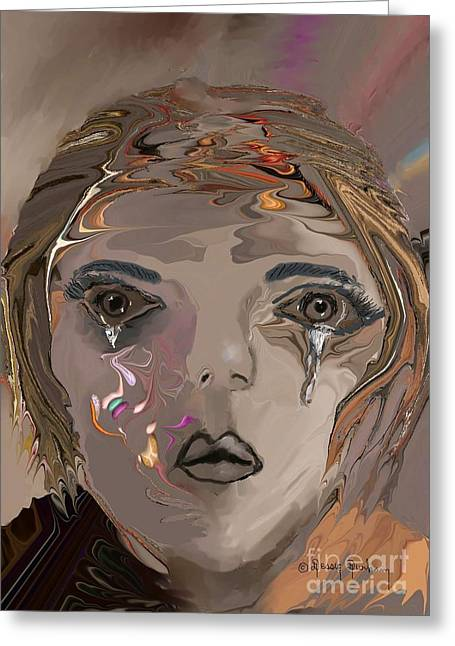 Dry The Tears From My Eyes Greeting Card by Dessie Durham