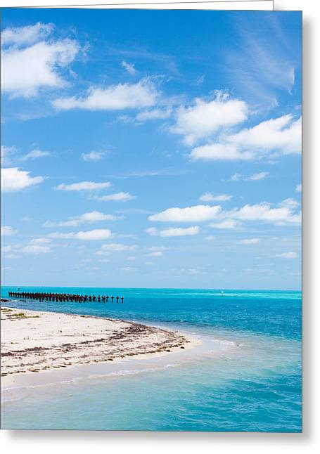 Dry Tortugas National Park Greeting Cards - Dry Tortugas Coaling Dock Greeting Card by Adam Pender