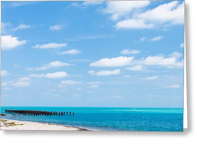 Dry Tortugas Coaling Dock Greeting Card by Adam Pender