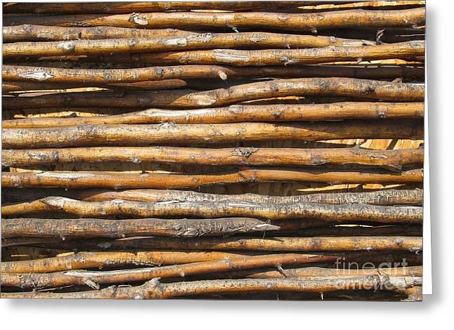 Dark Hedges Greeting Cards - Dry wattled fence decoration Greeting Card by Kiril Stanchev