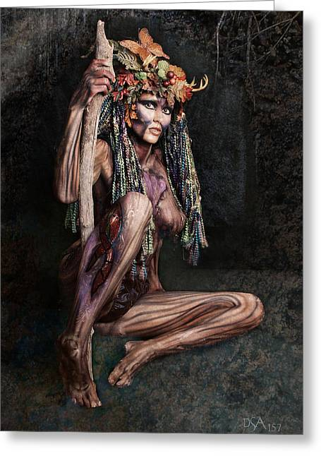 Body Photographs Greeting Cards - Dryad III Greeting Card by David April