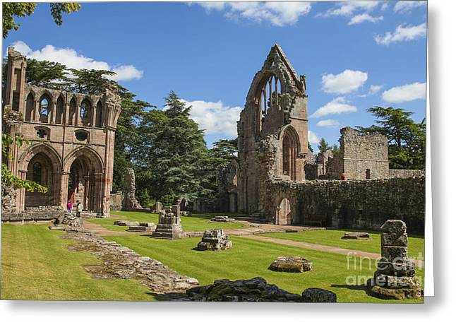 Old Relics Greeting Cards - Dryburgh abbey  Greeting Card by Patricia Hofmeester