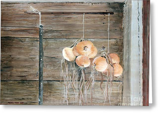 Shed Paintings Greeting Cards - Drying Time Greeting Card by Monte Toon