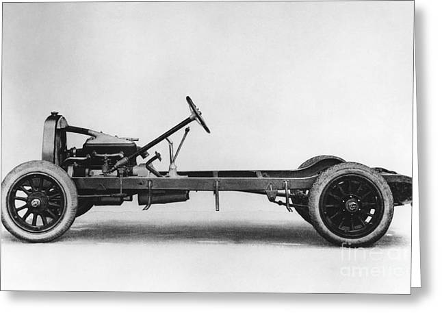 Steering Greeting Cards - Du Pont Automobile Chassis, 1920s Greeting Card by Hagley Archive