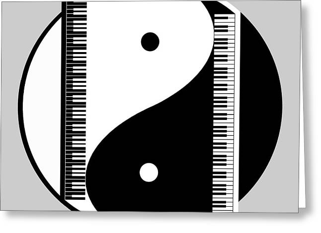 Yang Greeting Cards - Duality Greeting Card by Cristophers Dream Artistry