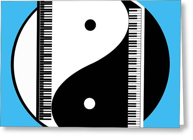 Yang Greeting Cards - Duality In Blue Greeting Card by Cristophers Dream Artistry