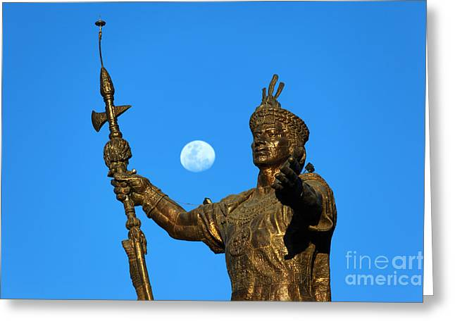 Statue Portrait Photographs Greeting Cards - Duality Greeting Card by James Brunker