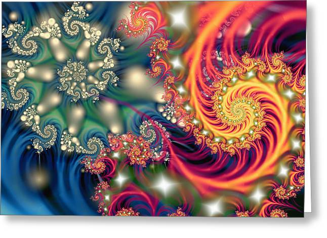 Opposing Forces Greeting Cards - Duality Greeting Card by Mary Almond
