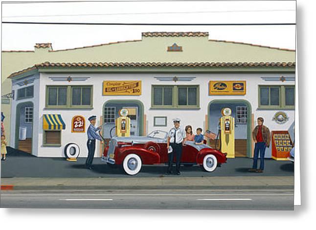 Texting Greeting Cards - Duane Flatmo Mural, Eureka, Humboldt Greeting Card by Panoramic Images