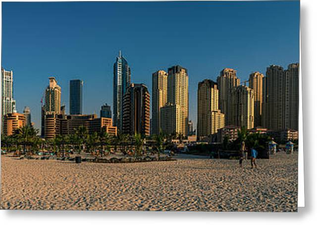 Wolkenkratzer Greeting Cards - Dubai - Marina Skyline Panorama  Greeting Card by Jean Claude Castor