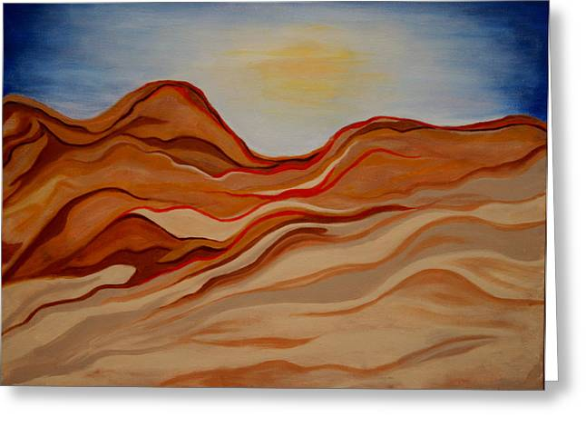Kpl Greeting Cards - Dubai Desert Greeting Card by Kathy Peltomaa Lewis
