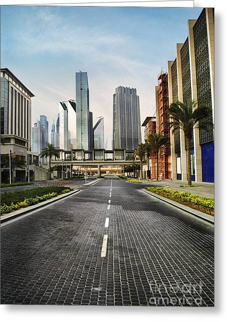 Center City Greeting Cards - Dubai Greeting Card by Jelena Jovanovic
