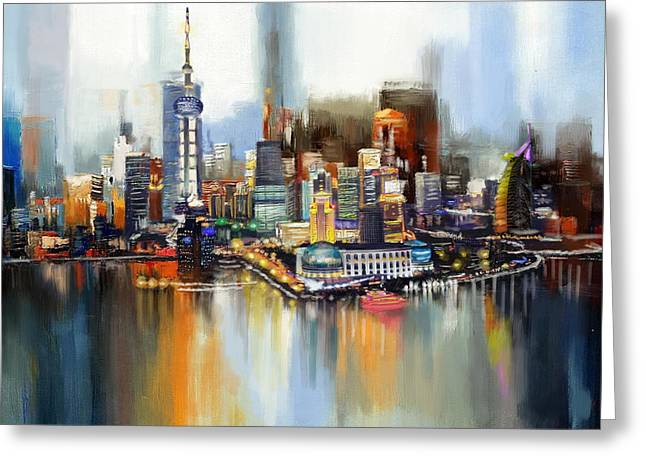 Souvenirs Greeting Cards - Dubai Skyline  Greeting Card by Corporate Art Task Force