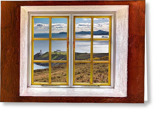 Cabin Window Greeting Cards - Dubin Bay View Greeting Card by Semmick Photo