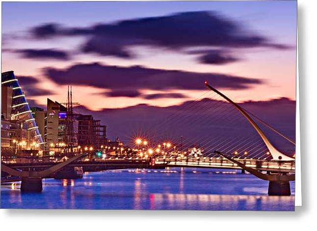 Samuel Greeting Cards - Dublin Docklands at Dawn / Dublin Greeting Card by Barry O Carroll