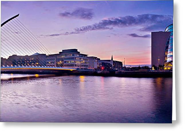 Samuel Greeting Cards - Dublin Docklands Panorama / Dublin Greeting Card by Barry O Carroll