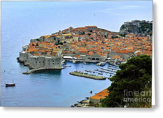 Adriatic Sea Greeting Cards - Dubrovnik Croatia Greeting Card by Lutz Baar