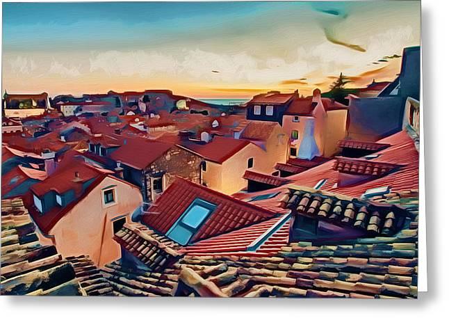 Surreal Landscape Greeting Cards - Dubrovnik III Greeting Card by Nikola Durdevic