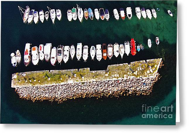 Award Winning Art Greeting Cards - Dubrovnik Kase Amazing Greeting Card by Aston Pershing