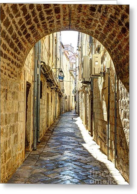 Kansas City Photographer Greeting Cards - Dubrovnik Old City Walkway Greeting Card by Crystal Nederman