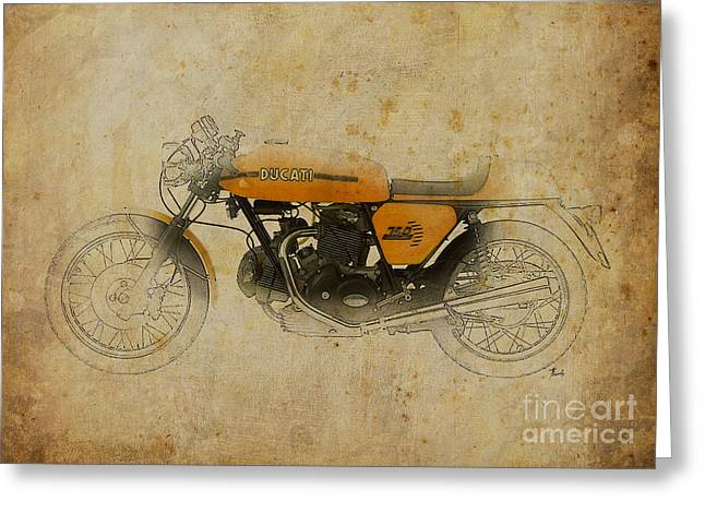 Nero Greeting Cards - Ducati 750 Sport 1973 Greeting Card by Pablo Franchi