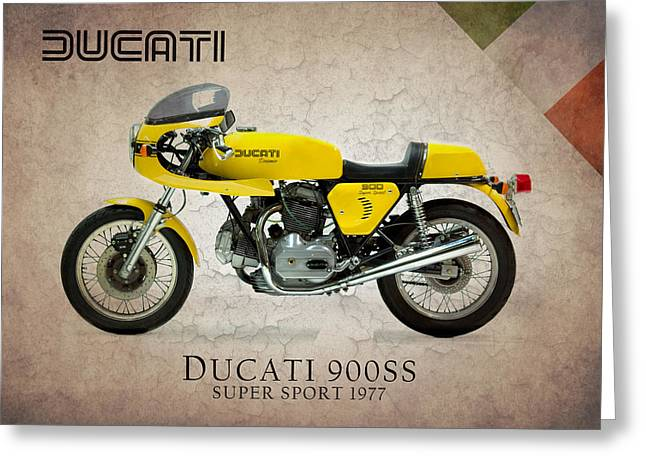 Ss Greeting Cards - Ducati 900 Super Sport 1977 Greeting Card by Mark Rogan
