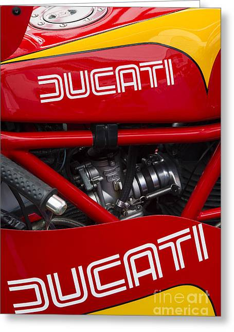 Gas Tank Greeting Cards - Ducati 900ss TT2 Motorcycle  Greeting Card by Tim Gainey