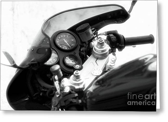 Wrapped Canvas Greeting Cards - Ducati Control Greeting Card by John Rizzuto
