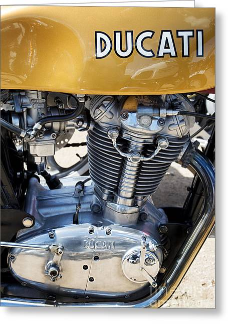 Gas Tank Greeting Cards - Ducati Desmo MK 3 450cc Greeting Card by Tim Gainey