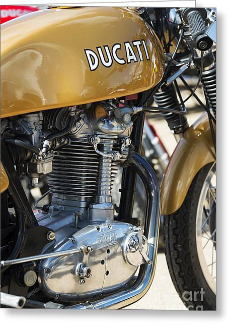 Gas Tank Greeting Cards - Ducati Desmo MK 3  Greeting Card by Tim Gainey