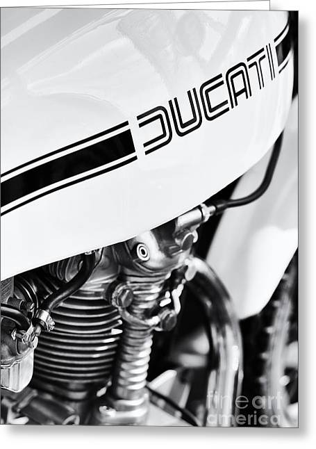 Tim Greeting Cards - Ducati Desmo Motorcycle Greeting Card by Tim Gainey