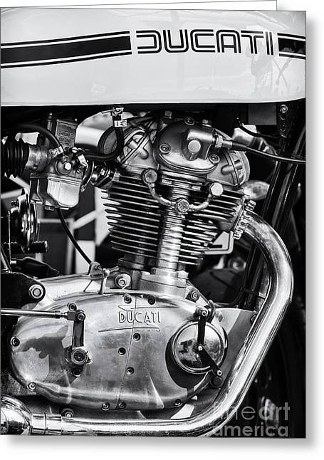 Machine Greeting Cards - Ducati Desmo Greeting Card by Tim Gainey