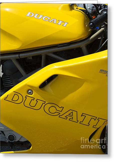 Ducati Desmodue Motorcycle  Greeting Card by Tim Gainey