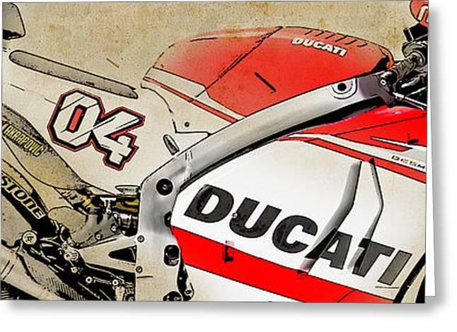 2009 Digital Art Greeting Cards - Ducati GP14 04 Greeting Card by Pablo Franchi