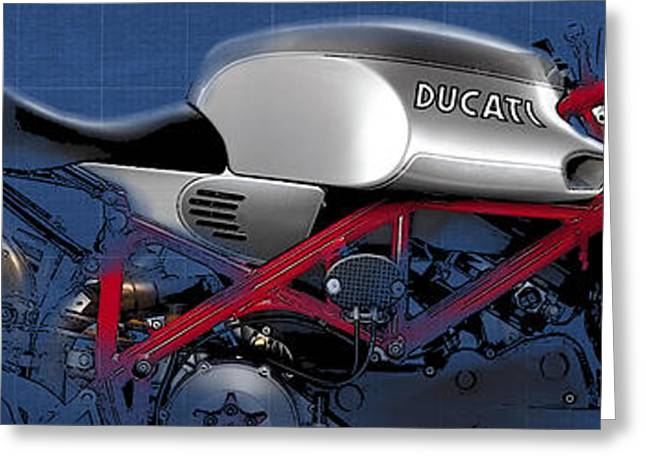 Living Large Greeting Cards - Ducati Greeting Card by Pablo Franchi