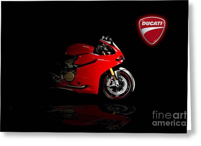 Superbikes Greeting Cards - Ducati Panigale Greeting Card by J Biggadike