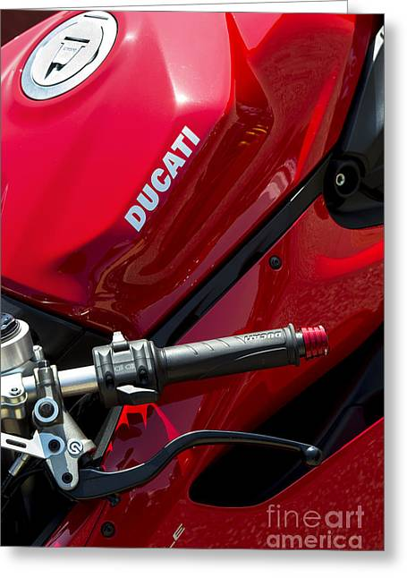 Red Abstracts Photographs Greeting Cards - Ducati Red Greeting Card by Tim Gainey