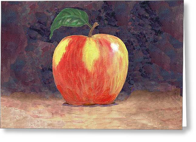 Duchess Apple Two Greeting Card by Linda Mears
