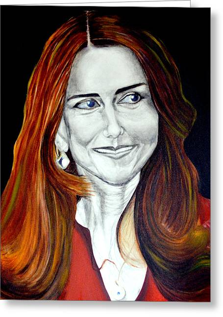 Duchess Of Cambridge Greeting Cards - Duchess of Cambridge Greeting Card by Prasenjit Dhar