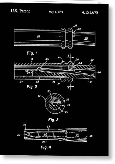 Millionaire. Greeting Cards - Duck Call Patent 1979 - Black Greeting Card by Stephen Younts