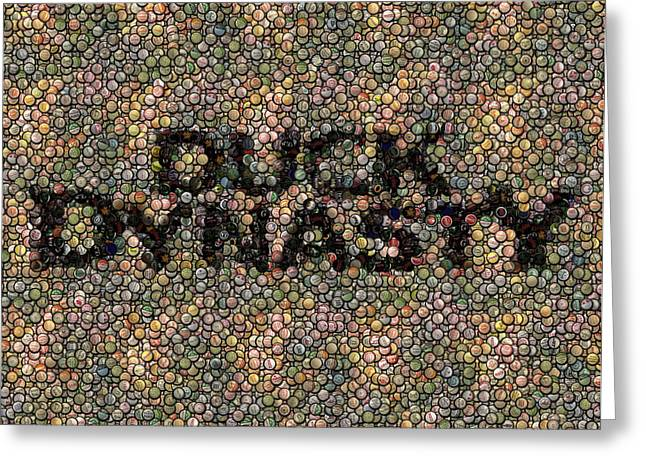Bottlecaps Mixed Media Greeting Cards - Duck Dynasty Bottlecap Mosaic Greeting Card by Paul Van Scott