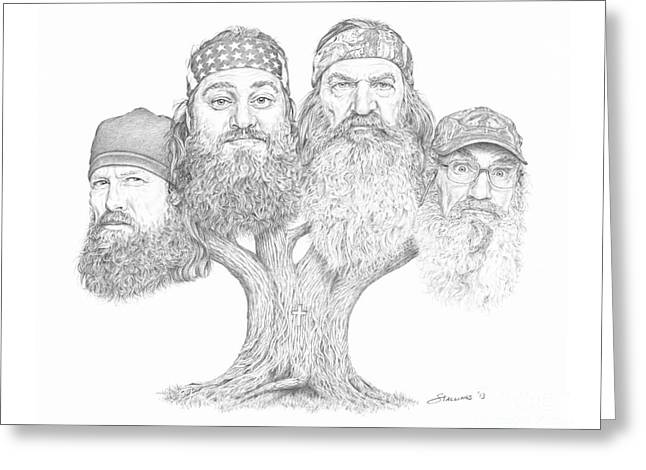 Duck Dynasty Greeting Cards - Duck Dynasty Tree Greeting Card by Shawn Stallings