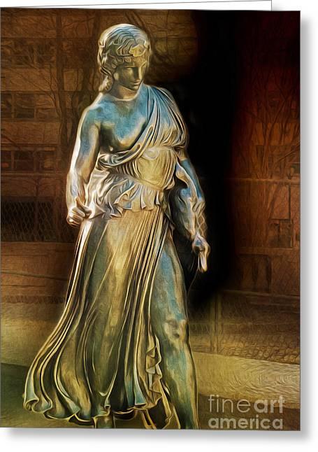 Greek Sculpture Greeting Cards - Duck Girl Greeting Card by Dawn Gari