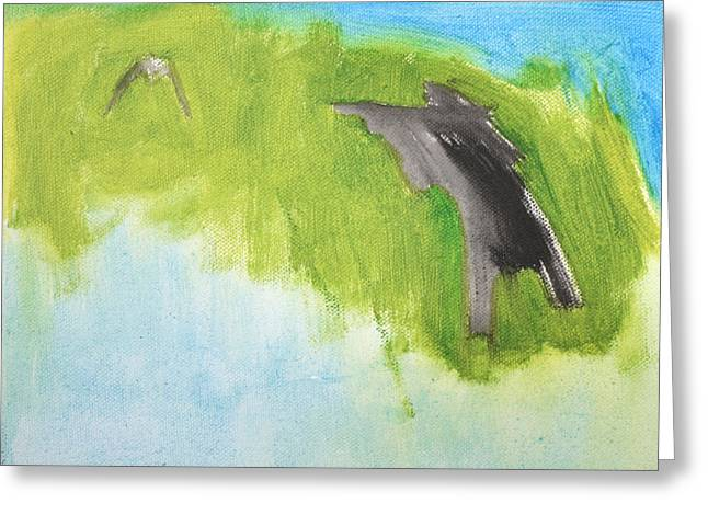 Expressionist Greeting Cards - Duck Hunter Greeting Card by Anon Artist