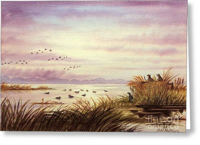 Unlimited Greeting Cards - Duck Hunting Companions Greeting Card by Bill Holkham