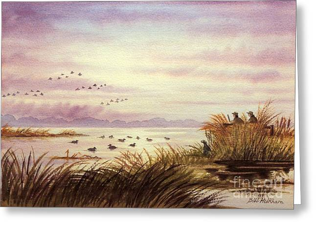 Duck Hunting Greeting Cards - Duck Hunting Companions Greeting Card by Bill Holkham