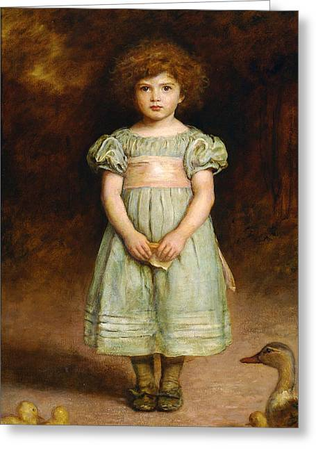 Ducklings Greeting Cards - Ducklings Greeting Card by John Everett Millais