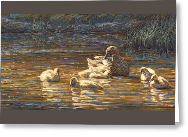 Duck Greeting Cards - Ducks Greeting Card by Lucie Bilodeau